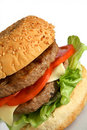 Home-made beefburger Royalty Free Stock Image