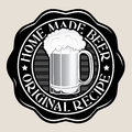 Home Made Beer / Original Recipe Seal Royalty Free Stock Photo