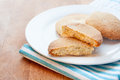 Home made bisucuits a white plate with biscuits Stock Photography