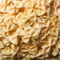 Home made bow tie pasta homemade farfalle for carbohydrates Royalty Free Stock Photo