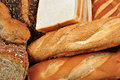 Home made bread in a basket Royalty Free Stock Photography