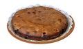 Home made cherry cake Stock Photos