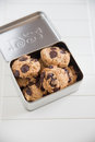 Home made Chocolate Chip Cookies Royalty Free Stock Photo