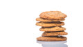 Home made cookies iii over white background Stock Photos