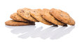 Home made cookies iv over white background Stock Photo