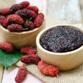 Home made mulberry jam Royalty Free Stock Photo