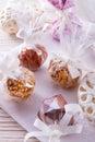 Home made nibble muesli small ball Royalty Free Stock Photos