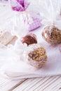 Home made nibble muesli small ball Royalty Free Stock Photo