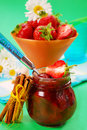 Home made strawberry confiture Royalty Free Stock Images