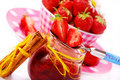 Home made strawberry confiture Stock Images