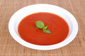 Home made tomato soup Stock Photos
