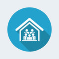 Home meeting icon Royalty Free Stock Photo