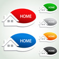 Home menu item - homepage symbol Stock Image