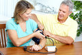 Home monitoring of blood pressure Royalty Free Stock Photography