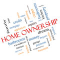 Home ownership word cloud concept angled with great terms such as property dream pride bank and more Royalty Free Stock Photos