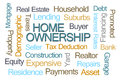 Home Ownership Word Cloud Royalty Free Stock Photo