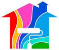Home painting logo Royalty Free Stock Photo