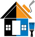 Home painting vector illustration of Stock Photo