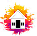 Home painting vector illustration of Royalty Free Stock Images