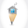 Home pencil illustration design over a white background Royalty Free Stock Photos