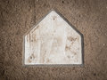 Home plate in baseball diamond dirt Stock Photo