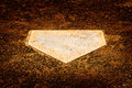 Home Plate on Baseball Diamond for Scoring Points Royalty Free Stock Photo