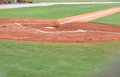 Home Plate Batters Box Royalty Free Stock Photo