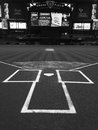 Home Plate And Batters Box. Royalty Free Stock Photo