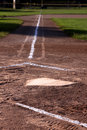 Home Plate at Dusk Royalty Free Stock Photo
