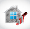 Home prices falling concept illustration Royalty Free Stock Photo