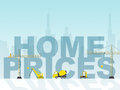 Home prices shows houses residential and cost meaning property outlay amount Royalty Free Stock Photography