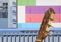 Home recording studio Royalty Free Stock Photo
