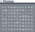 Home related icon set of the simple icons Royalty Free Stock Image