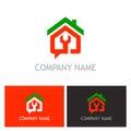 Home renovation maintenance logo