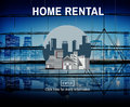 Home Rental House Property Rent Concept