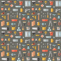 Home repair and construction flat seamless pattern.