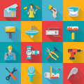 Home Repair Icons Set Royalty Free Stock Photo