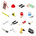Home Repair Icons Set Isometric View. Vector