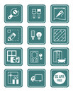 Home repair icons | TEAL series Royalty Free Stock Photo