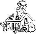 Home repair real estate cartoon Vector Clipart