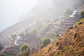 Home on rice terraces beautiful landscape Royalty Free Stock Photo