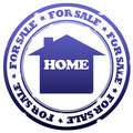 Home for sale stamp Royalty Free Stock Image