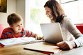 Home School Learning Homework Reading Concept Royalty Free Stock Photo