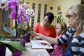 Home schooling - flowers Royalty Free Stock Photo