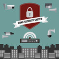Home security cctv cam system design