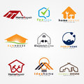 Home service and modern logo vector set art design Royalty Free Stock Photo