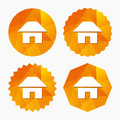 Home sign icon. Main page button. Navigation. Royalty Free Stock Photo