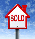 Home Sold Sign Stock Images