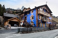 Home of the South Tyrol. Ortisei, Italy. Royalty Free Stock Photo