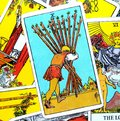 10 Ten of Wands Tarot Card Home-Stretch Nearly There Keep Your Head Down and Keep Going One Final Push Success is almost Yours